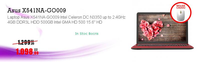 """Laptop Asus X541NA-GO009 Intel Celeron DC N3350 up to 2.4GHz 4GB DDR3L HDD 500GB Intel GMA HD 500 15.6"""" HD"""