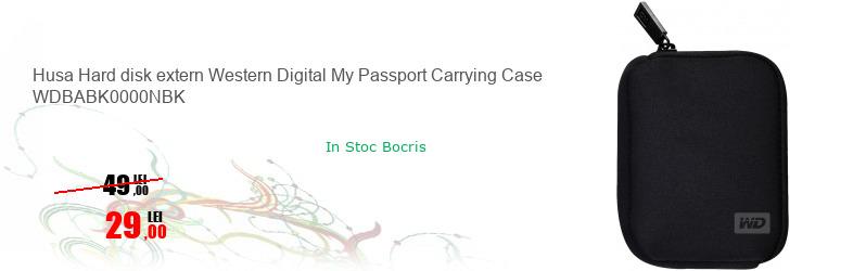 Husa Hard disk extern Western Digital My Passport Carrying Case WDBABK0000NBK