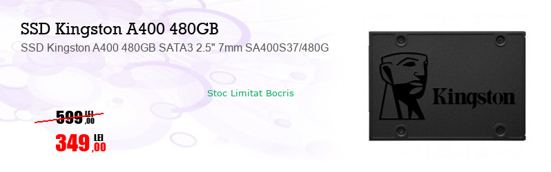 """SSD Kingston A400 480GB SATA3 2.5"""" 7mm SA400S37/480G"""