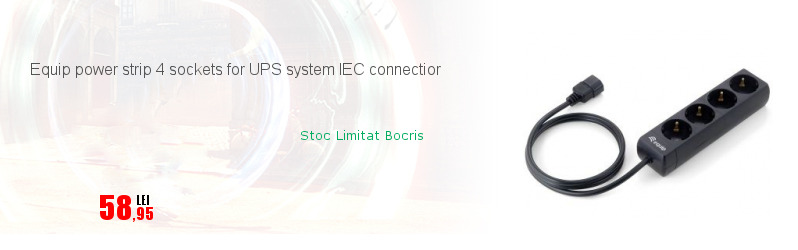 Equip power strip 4 sockets for UPS system IEC connectior