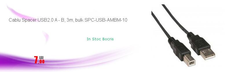 Cablu Spacer USB2.0 A - B, 3m, bulk SPC-USB-AMBM-10