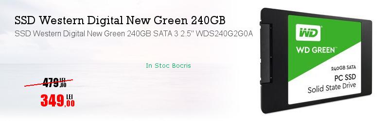 "SSD Western Digital New Green 240GB SATA 3 2.5"" WDS240G2G0A"