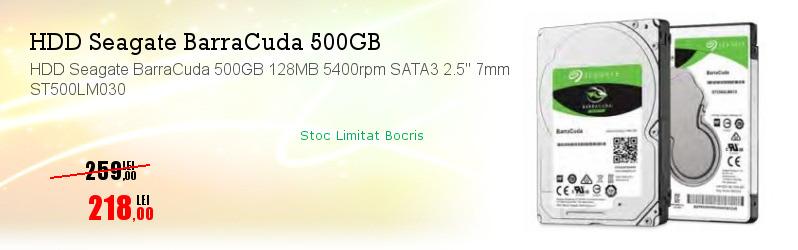 """HDD Seagate BarraCuda 500GB 128MB 5400rpm SATA3 2.5"""" 7mm ST500LM030"""