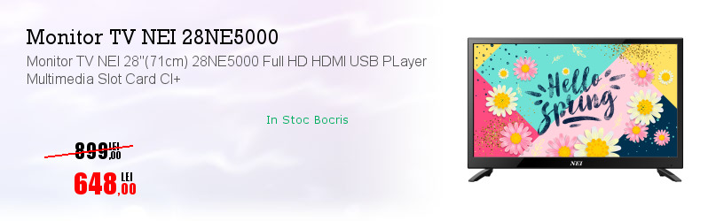 "Monitor TV NEI 28""(71cm) 28NE5000 Full HD HDMI USB PLayer Multimedia Slot Card CI+"