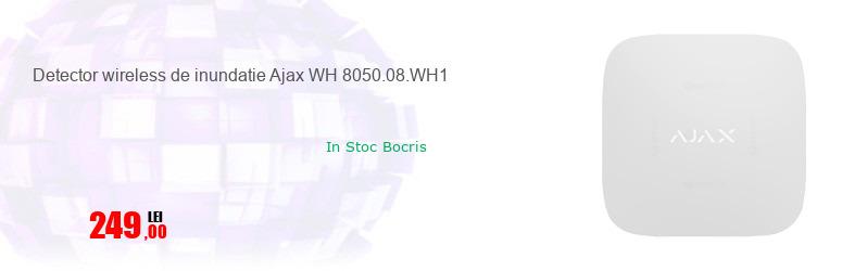 Detector wireless de inundatie Ajax WH 8050.08.WH1