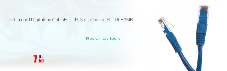 Patch cord Digitalbox Cat. 5E, UTP, 3 m, albastru STLU5E3MB