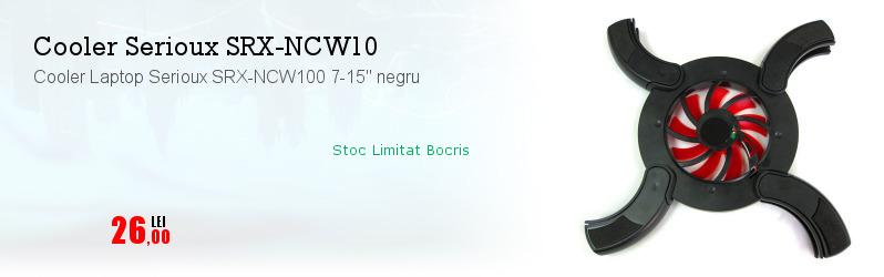 "Cooler Laptop Serioux SRX-NCW100 7-15"" negru"