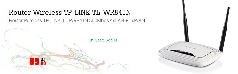 Router Wireless TP-LINK TL-WR841N 300Mbps 4xLAN + 1xWAN