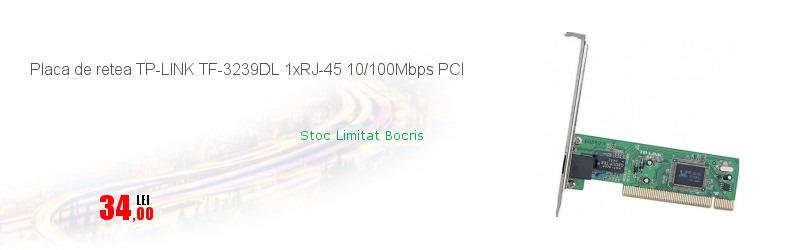 Placa de retea TP-LINK TF-3239DL 1xRJ-45 10/100Mbps PCI