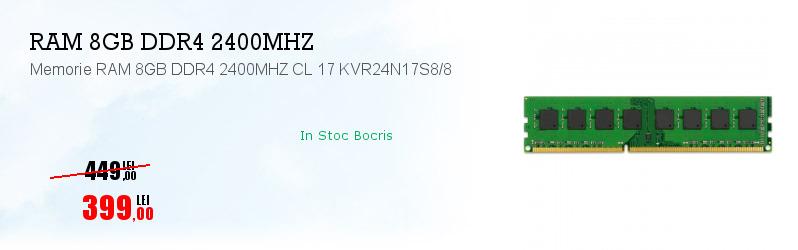 Memorie RAM 8GB DDR4 2400MHZ CL 17 KVR24N17S8/8