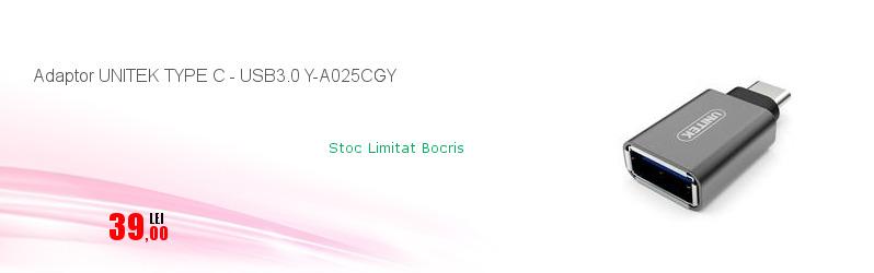 Adaptor UNITEK TYPE C - USB3.0 Y-A025CGY