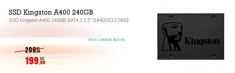 """SSD Kingston A400 240GB SATA 3 2.5"""" SA400S37/240G"""