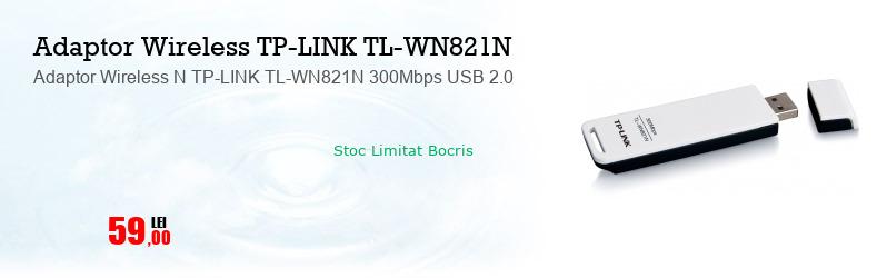 Adaptor Wireless N TP-LINK TL-WN821N 300Mbps USB 2.0