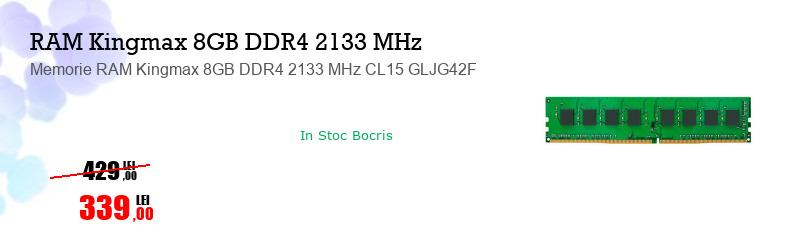 Memorie RAM Kingmax 8GB DDR4 2133 MHz CL15 GLJG42F