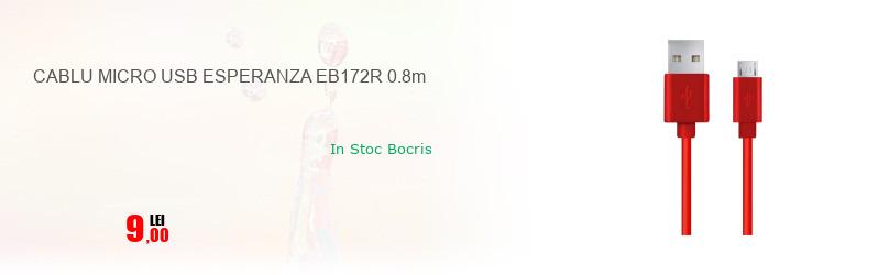 CABLU MICRO USB ESPERANZA EB172R 0.8m