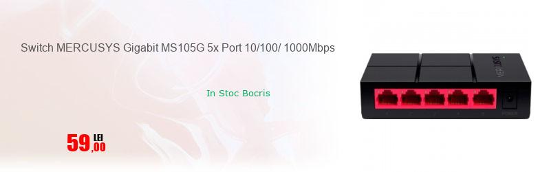 Switch MERCUSYS Gigabit MS105G 5x Port 10/100/ 1000Mbps