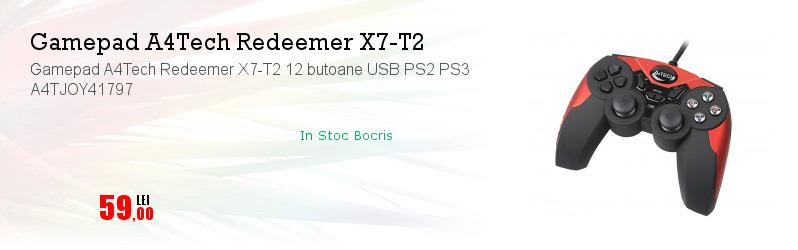 Gamepad A4Tech Redeemer X7-T2 12 butoane USB PS2 PS3 A4TJOY41797