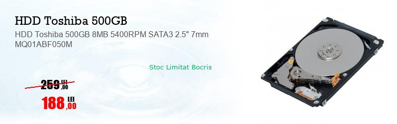 """HDD Toshiba 500GB 8MB 5400RPM SATA3 2.5"""" 7mm MQ01ABF050M"""