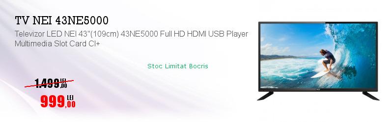 """Televizor LED NEI 43""""(109cm) 43NE5000 Full HD HDMI USB Player Multimedia Slot Card CI+"""