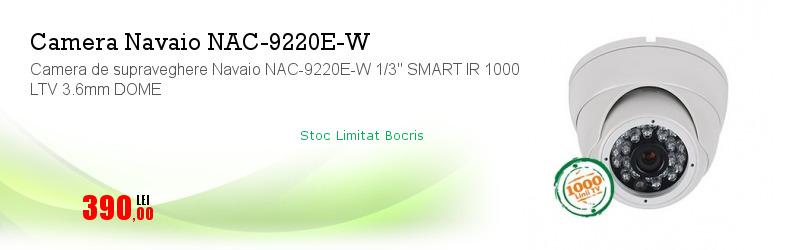 """Camera de supraveghere Navaio NAC-9220E-W 1/3"""" SMART IR 1000 LTV 3.6mm DOME"""