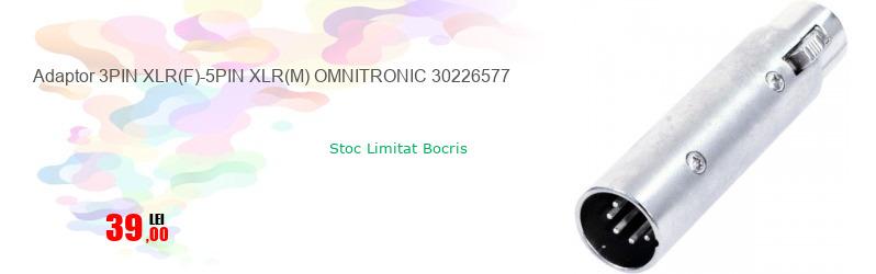 Adaptor 3PIN XLR(F)-5PIN XLR(M) OMNITRONIC 30226577