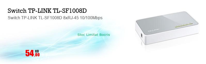 Switch TP-LINK TL-SF1008D 8xRJ-45 10/100Mbps