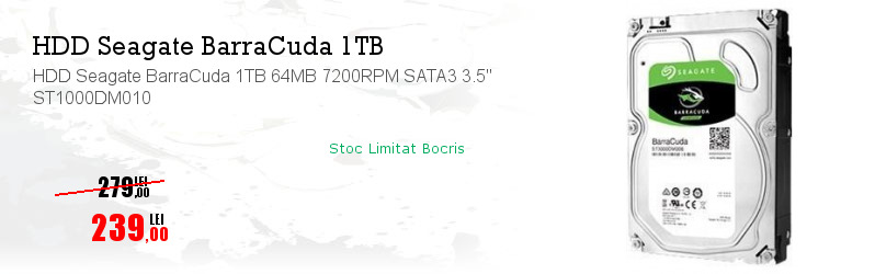 "HDD Seagate BarraCuda 1TB 64MB 7200RPM SATA3 3.5"" ST1000DM010"