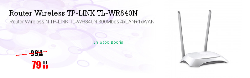 Router Wireless N TP-LINK TL-WR840N 300Mbps 4xLAN+1xWAN