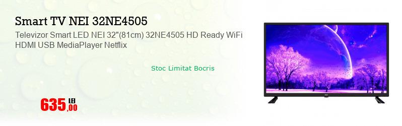 "Televizor Smart LED NEI 32""(81cm) 32NE4505 HD Ready WiFi HDMI USB MediaPlayer Netflix"