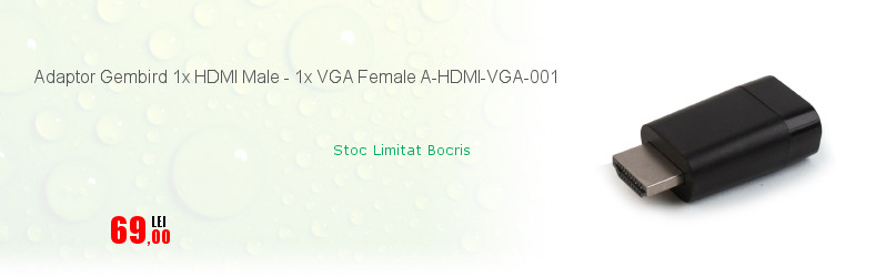 Adaptor Gembird 1x HDMI Male - 1x VGA Female A-HDMI-VGA-001
