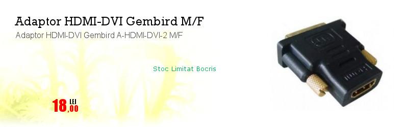 Adaptor HDMI-DVI Gembird A-HDMI-DVI-2 M/F