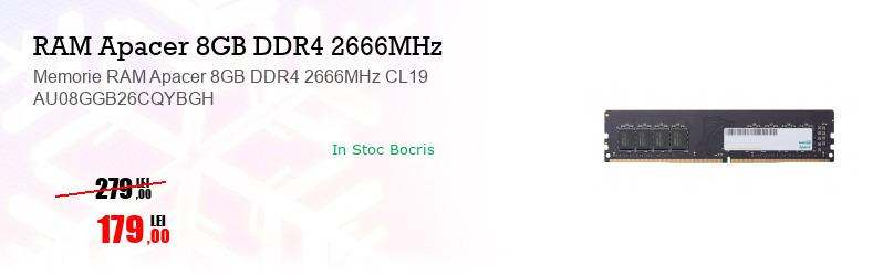 Memorie RAM Apacer 8GB DDR4 2666MHz CL19 AU08GGB26CQYBGH
