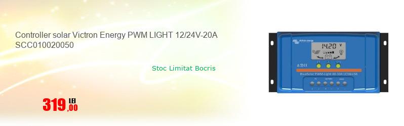 Controller solar Victron Energy PWM LIGHT 12/24V-20A SCC010020050