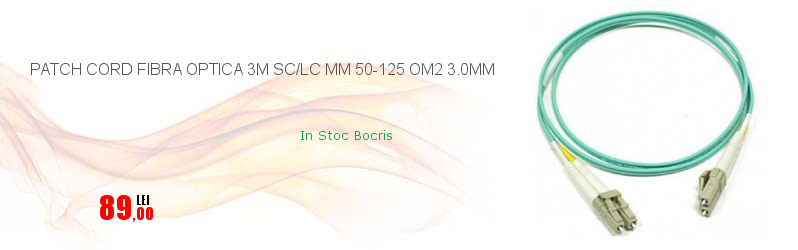PATCH CORD FIBRA OPTICA 3M SC/LC MM 50-125 OM2 3.0MM