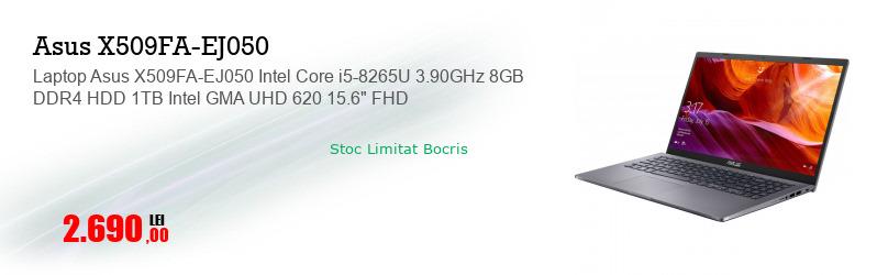 """Laptop Asus X509FA-EJ050 Intel Core i5-8265U 3.90GHz 8GB DDR4 HDD 1TB Intel GMA UHD 620 15.6"""" FHD"""