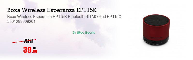 Boxa Wireless Esperanza EP115K Bluetooth RITMO Red EP115C - 5901299909201