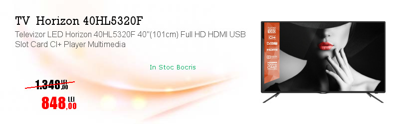 """Televizor LED Horizon 40HL5320F 40""""(101cm) Full HD HDMI USB Slot Card CI+ Player Multimedia"""