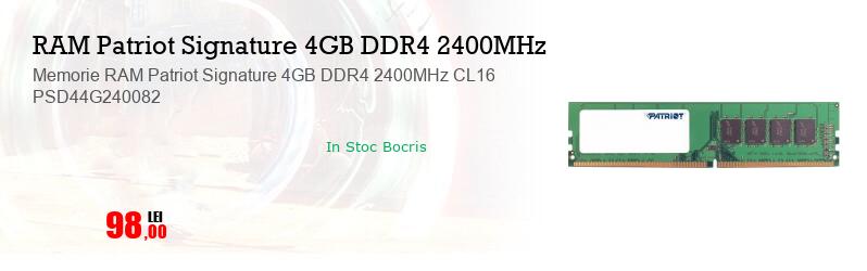 Memorie RAM Patriot Signature 4GB DDR4 2400MHz CL16 PSD44G240082