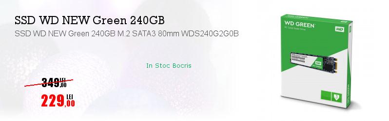 SSD WD NEW Green 240GB M.2 SATA3 80mm WDS240G2G0B