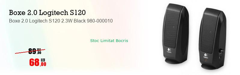 Boxe 2.0 Logitech S120 2.3W Black 980-000010