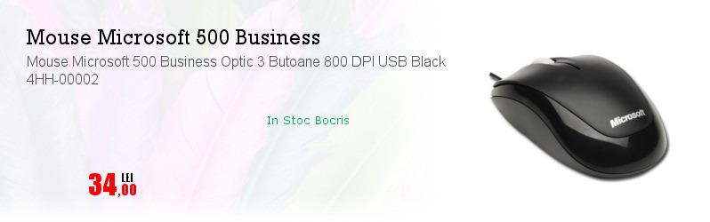 Mouse Microsoft 500 Business Optic 3 Butoane 800 DPI USB Black 4HH-00002