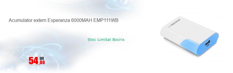 Acumulator extern Esperanza 6000MAH EMP111WB