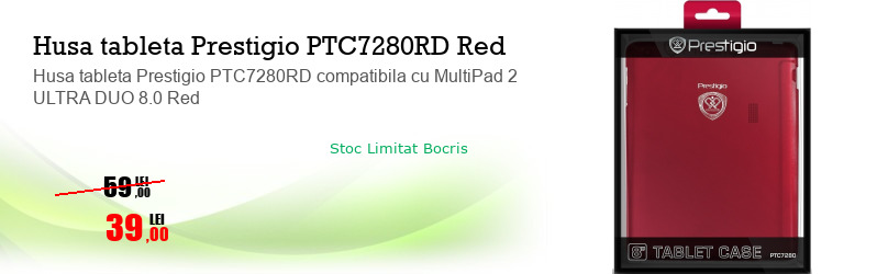 Husa tableta Prestigio PTC7280RD compatibila cu MultiPad 2 ULTRA DUO 8.0 Red