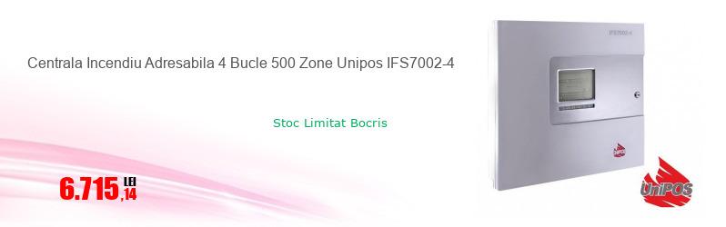 Centrala Incendiu Adresabila 4 Bucle 500 Zone Unipos IFS7002-4