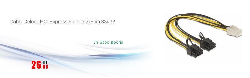 Cablu Delock PCI Express 6 pin la 2x8pin 83433