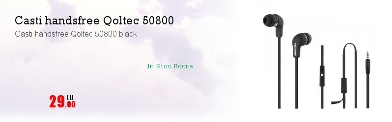 Casti handsfree Qoltec 50800 black