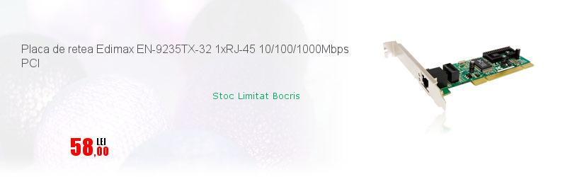 Placa de retea Edimax EN-9235TX-32 1xRJ-45 10/100/1000Mbps PCI