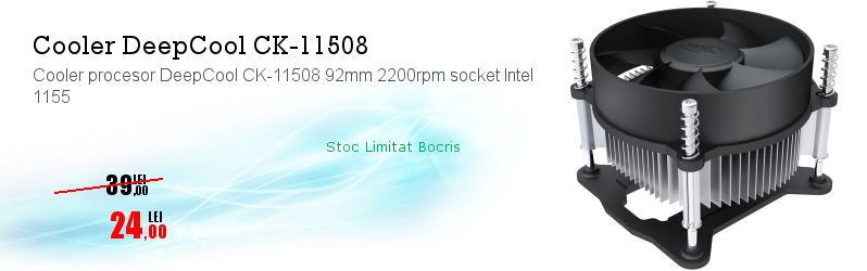Cooler procesor DeepCool CK-11508 92mm 2200rpm socket Intel 1155