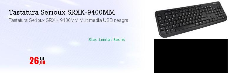 Tastatura Serioux SRXK-9400MM Multimedia USB neagra