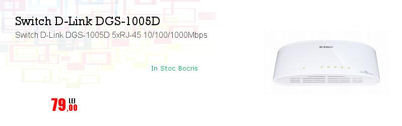 Switch D-Link DGS-1005D 5xRJ-45 10/100/1000Mbps